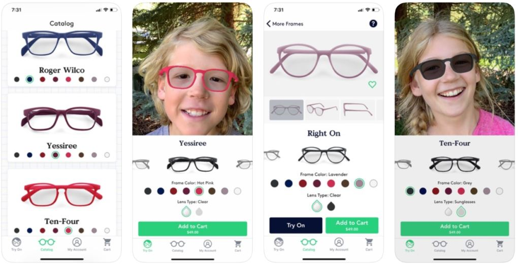 AR App Lets Kids Customize Prescription Glasses